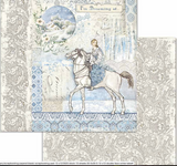 Stamperia - Double-Sided Cardstock 12x12 - Winter Tales - Horse (SBB719)