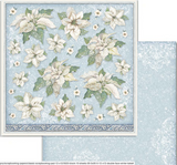 Double-Sided Cardstock 12x12 - Winter Tales - Poinsettia (SBB720)