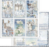 Stamperia - Double-Sided Cardstock 12x12 - Winter Tales - Cards (SBB722)