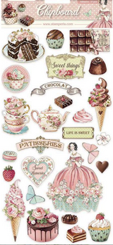 Stamperia - Chipboard Stickers - Sweetie (DFLCB11)