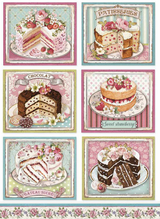 Stamperia - Decoupage Rice Paper A4 - Sweetie (DFSA4500)