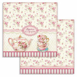 Stamperia - Double-Sided Cardstock 12x12 - Sweetie - Cup of Tea (SBB736)