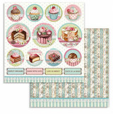 Stamperia - Double-Sided Cardstock 12x12 - Sweetie - Mini Cakes (SBB737)