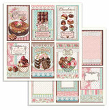 Stamperia - Double-Sided Cardstock 12x12 - Sweetie - Chocolate Cards (SBB738)