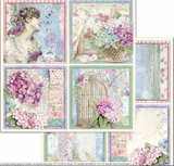 Stamperia - Double-Sided Cardstock - Hortensia - 4 Cards (SBB697)