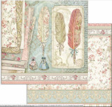 Stamperia - Double-Sided Cardstock 12x12 - Princess - Feathers (SBB712)