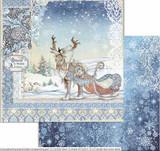 Stamperia - Double-Sided Cardstock 12x12 - Winter Tales - Deer (SBB718)