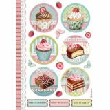 Stamperia - Decoupage Rice Paper A4 - Mini Cakes (DFSA4503)