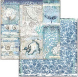 Stamperia - Double-Sided Cardstock 12x12 - Arctic Antarctic - Shells (SBB731)