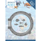 Find It Trading - Amy Design Die - Underwater World - Porthole & Fish (ADD10210)