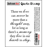 "Darkroom Door - Quote Cling Stamp 3.3""X2.3"" - Memory (DDQS014)"
