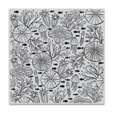 Hero Arts - Bold Prints 6x6 Background Cling Stamp - Underwater Pattern (HA-CG812)