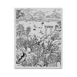 "Hero Arts - 4.5""X5.75"" Cling Stamp - Deep Sea Background (HA-CG813)"