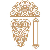 Prima Marketing Laser Cut Chipboard - Lace & Heart, 3/Pkg (647322)
