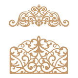 Prima Marketing Laser Cut Chipboard - Flourish Gate, 2/Pkg (647339)
