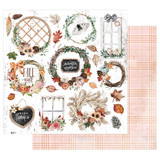 Prima - 12x12 Double-Sided Paper - Pumpkin & Spice - Sweater Weather (PMPKN12 49597)