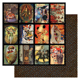 """Authentique - Double-Sided Cardstock 12x12 - Masquerade 3""""X4"""" Cut-Aparts #8 (MQR12 - 008)"""
