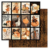 "Double-Sided Cardstock 12x12 - Masquerade - Vintage Halloween 3""X4"" Cut-Aparts #7 (MQR12 - 007)"