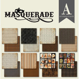 "Authentique - Double-Sided Cardstock Pad 6""X6"" 24/Pkg - Masquerade (MQR010)"
