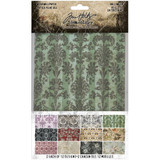 "Tim Holtz - Idea-Ology - Halloween Worn Wallpaper 5""X8"" 24/Pkg (TH94058)"