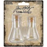 Tim Holtz Idea-Ology - Laboratory Small Corked Glass Flasks 2/Pkg (TH94080)