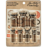 Tim Holtz Idea-Ology - Apothecary Amber Corked Glass Vials 7/Pkg (TH93302)