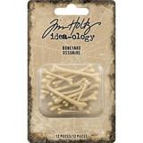 Tim Holtz - Idea-Ology - Boneyard Pieces 12/Pkg (TH94062)