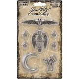Tim Holtz - Idea-ology - Metal Adornments - Antique Silver 8/Pkg - Halloween 2020 (TH94065)