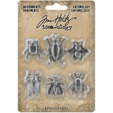 Tim Holtz - Idea-ology - Metal Adornments 5/Pkg - Entomology - Halloween 2020 (TH94079)