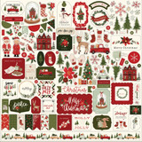 Carta Bella - Element Sticker 12x12 - Hello Christmas (CBHC124014)