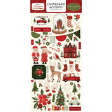 "Carta Bella - Chipboard Accents 6""X13""- Hello Christmas (HC124021)"