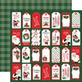 "Carta Bella - Double-Sided Cardstock 12""X12"" - Dear Santa - Tags (CBDE125010)"