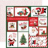 "Carta Bella - Double-Sided Cardstock 12""X12"" - Dear Santa - Multi Journaling Cards (CBDE125012)"