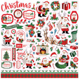"Carta Bella - Element Sticker 12""X12"" - Dear Santa (CBDE125014)"