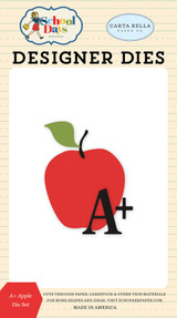 Carta Bella - School Days - Die - A+ Apple (DS118040)