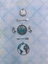 Blue Fern Studios - Passages - Charms - Around the World (656961)