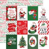 "Carta Bella - Double-Sided Cardstock 12""X12"" - Dear Santa - 3x4 Journaling Cards (CBDE125004)"
