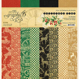 "Graphic 45 - Patterns & Solids 12""X12"" - Christmas Time (G4502120)"