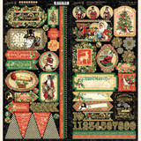 Graphic 45 - Stickers - Christmas Time (G4502122)