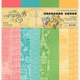 """Graphic 45 - Patterns & Solids Pad 12""""X12"""" - Ephemera Queen (G4502105)"""