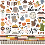 "Simple Stories - Cardstock Stickers 12""X12"" - Cozy Days (COZ13501)"