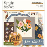 Simple Stories - Bits & Pieces Die-Cuts 39/Pkg - Cozy Days - Journal (COZ13517)