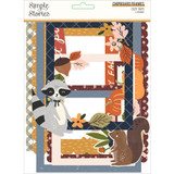 Simple Stories - Layered Chipboard Frames Die-Cuts 6/Pkg - Cozy Days (COZ13519)