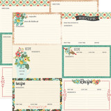 Simple Stories - Double-Sided Cardstock 12x12 - Apron Strings - Recipe Cards (APR12 14008)