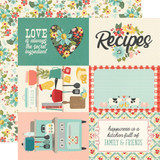 Simple Stories - Double-Sided Cardstock 12x12 - Apron Strings - 4x6 Elements (APR12 14013)