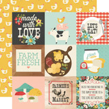 Simple Stories - Double-Sided Cardstock 12x12 - Apron Strings - 4x4 Elements (APR12 14012)