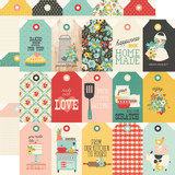 Simple Stories - Double-Sided Cardstock 12x12 - Apron Strings - Tags (APR12 14009)