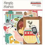 Simple Stories - Bits & Pieces Die-Cuts 55/Pkg - Apron Strings (APR14016)
