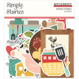 Simple Stories - Bits & Pieces Die-Cuts 55/Pkg - Apron Strings (APR14016)