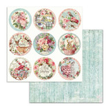 Stamperia - Double sided 12x12 Paper - Pink Christmas - Rounds (SBB701)